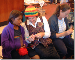 Adi Dunlop teaching crochet